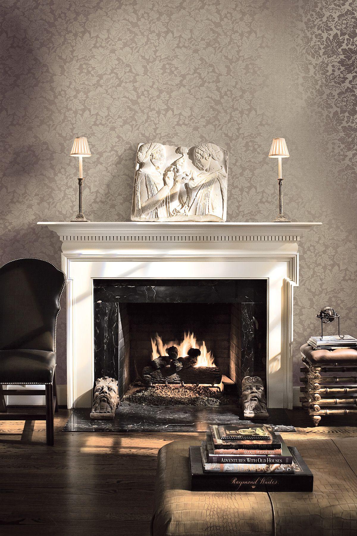 Clasica chimeneas pinterest clasicos casas for Decoracion inglesa clasica