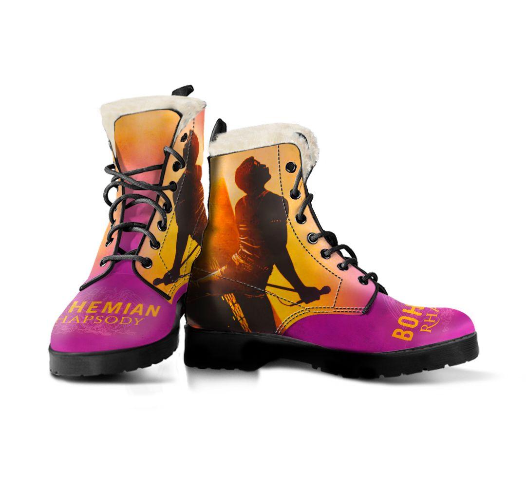 Bohemian Rhapsody Faux Fur Leather Boots Freddie Mercury