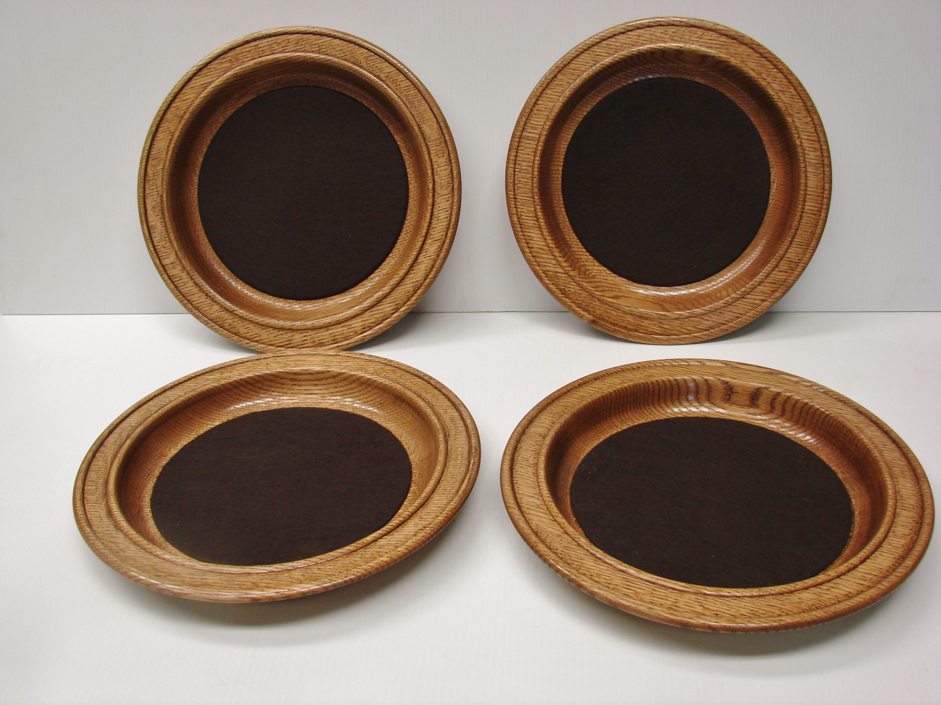 Set of 4 hand turned church offering plates. The plates ...