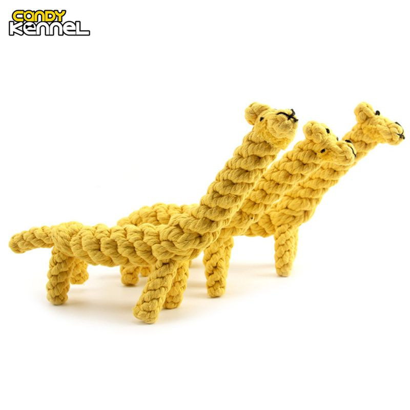 CANDY KENNEL Giraffe Design Pet Dog Toy Hand-woven Clean Teeth Training Chew Toys D1145 #Affiliate