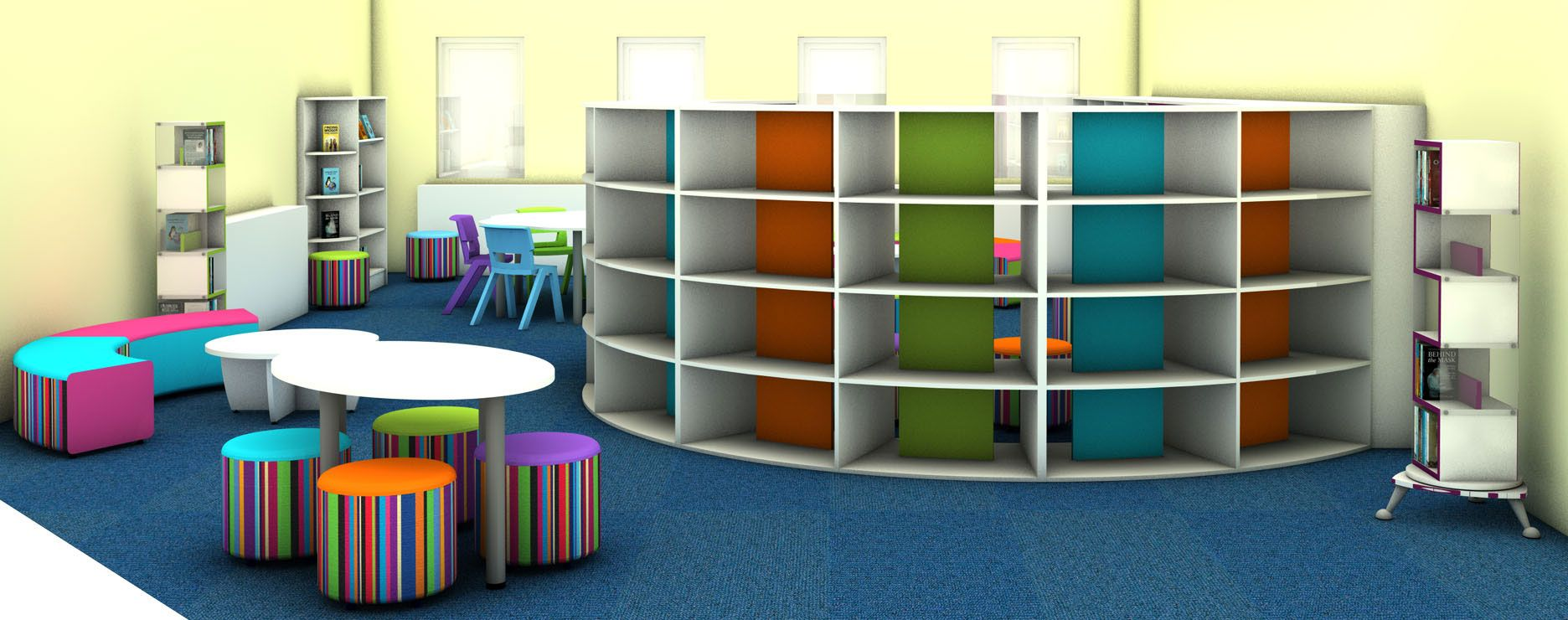 contemporary library furniture. Light And Contemporary Gloss White Primary School Library Design Furniture F