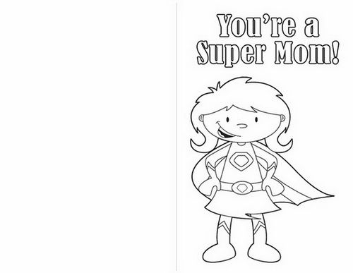 Easy printable mothers day cards ideas for kids coloring for Mothers day cards from preschoolers