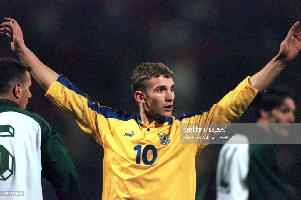 Ukraine S Andriy Shevchenko Calls For The Ball Andriy Shevchenko Ukraine Ball