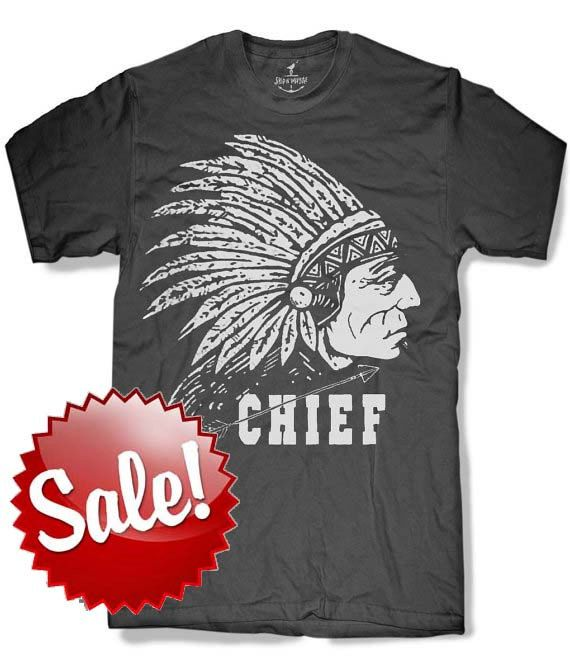 3100863ef8089 INDIAN CHIEF Mens t shirt -- 8 color options -- sizes sm med lg xl ...