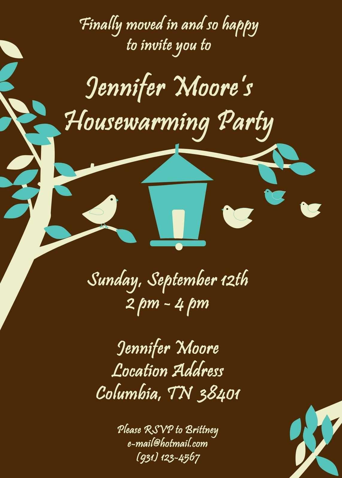 housewarming party invitations cute birdhouse theme | Housewarming ...