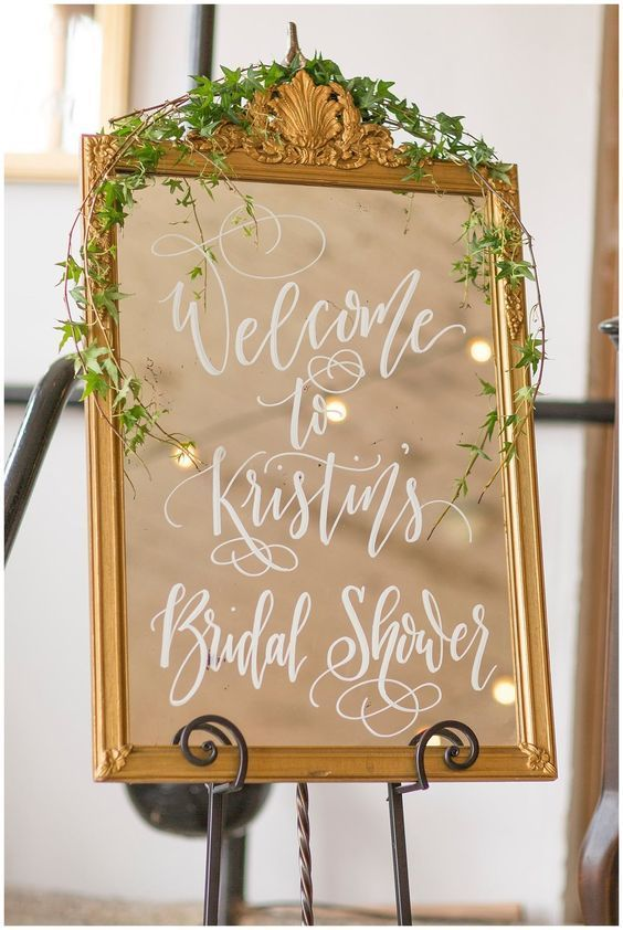 geometric rose bridal shower welcome sign, floral blush and gold bridal luncheon decor, printable op