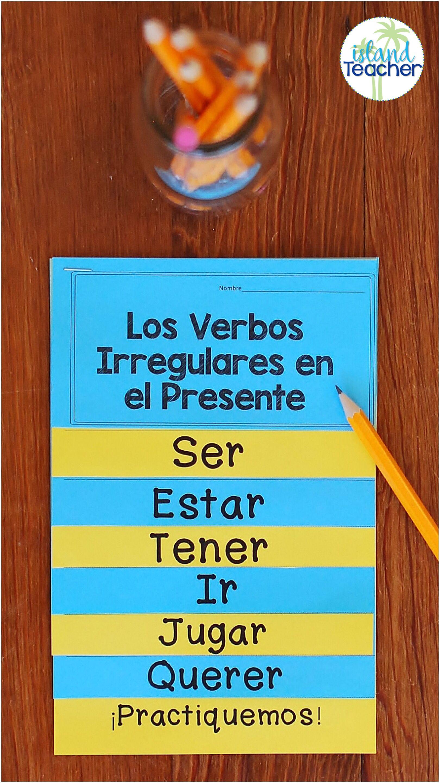 Spanish Present Tense Irregular Verbs Interactive Flip