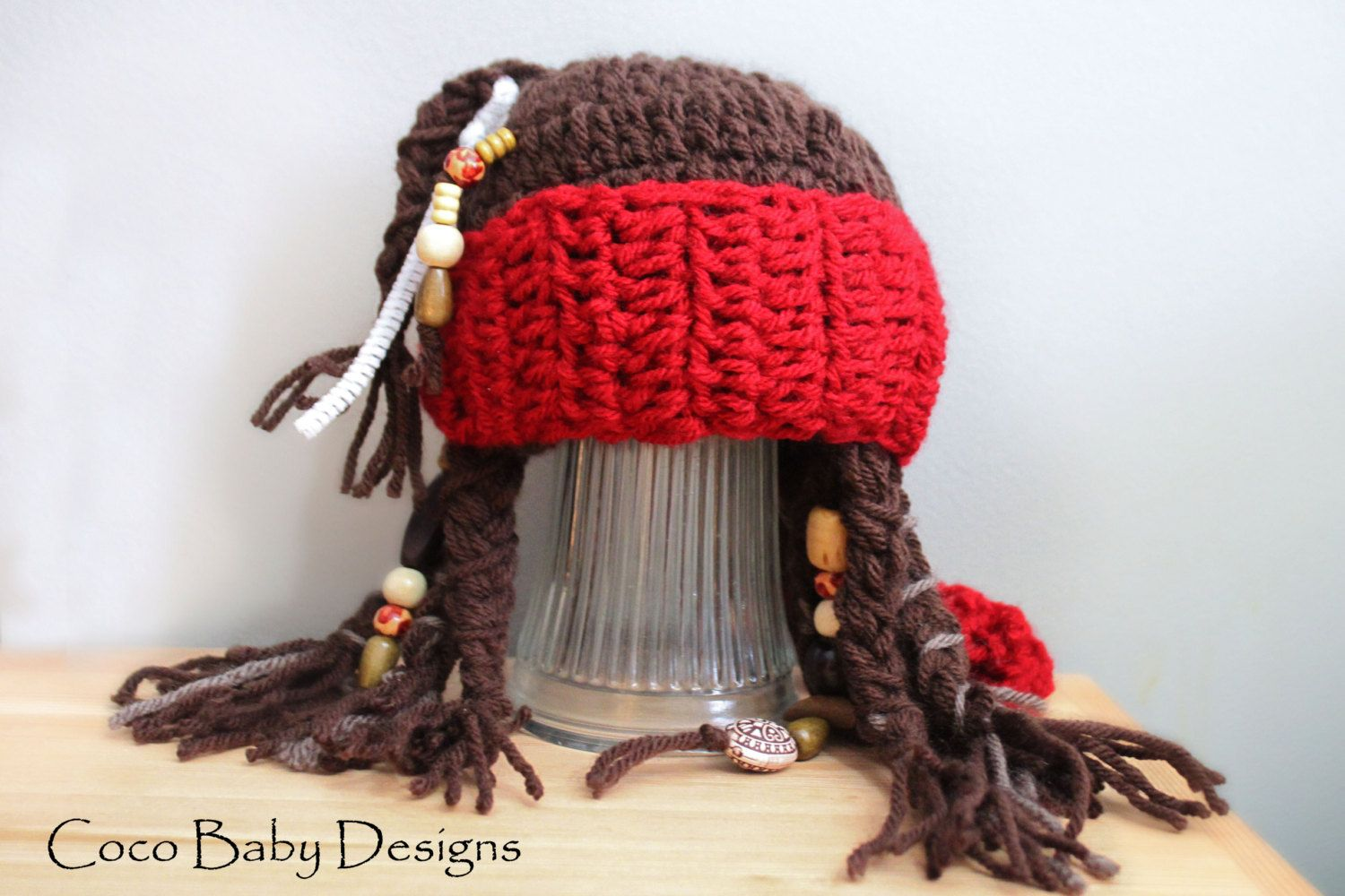 45b57f1bf88 Captain Jack Sparrow Junior Baby Pirate Hat by CocoBabyDesigns ...