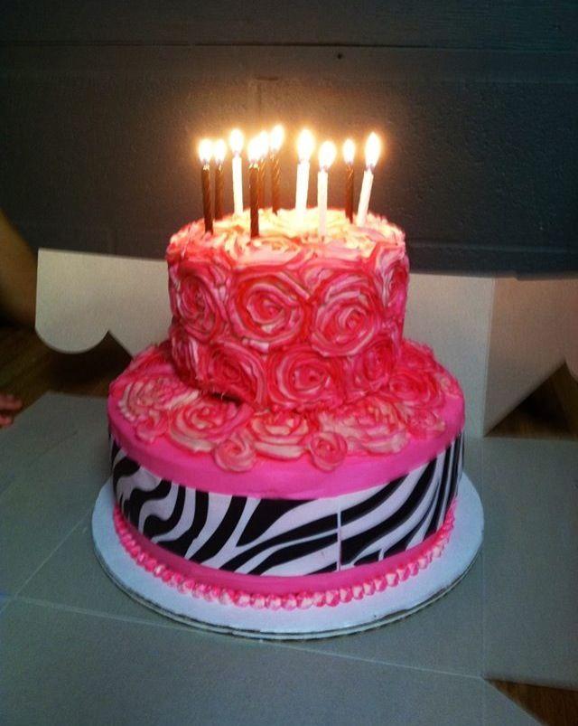 Cake Birthday Homemade 2 Tier