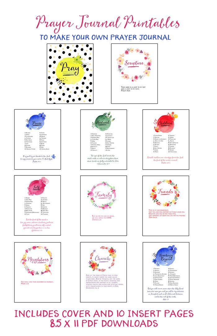 i ve been anxious to update the prayer journal printables that i
