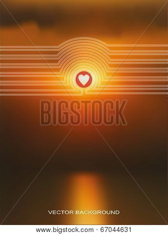 Vector Web And Mobile Interface Template Blurred Background Healthy Living Love Sunset Poster ID67044631 Vector Web And Mobile Interface Template Blurred Background Healt...
