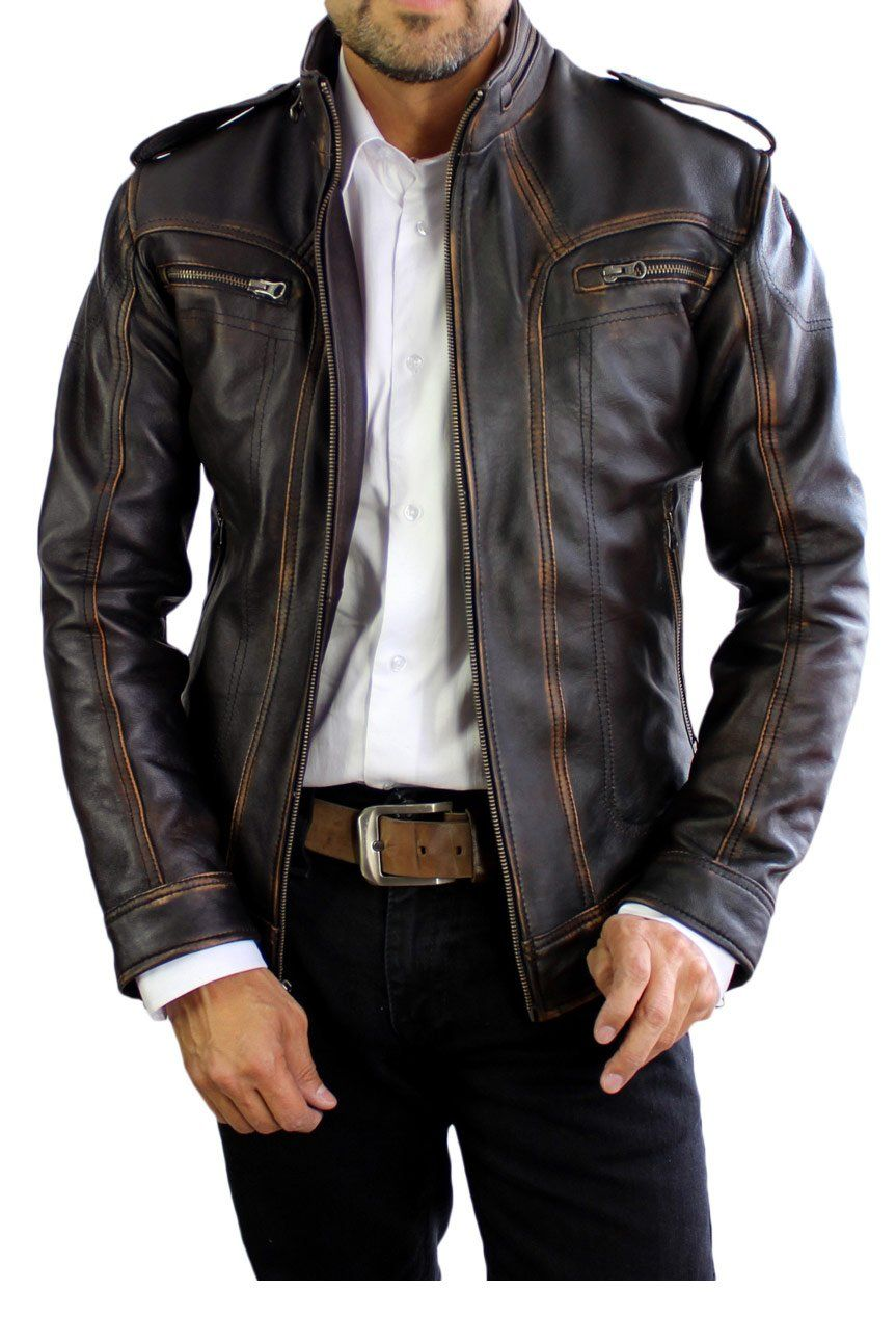 2018 AX Leather Jacket Distressed Black XSMALL in 2020