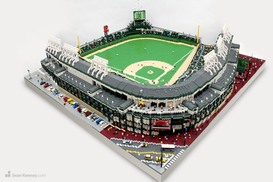 Sean Kenney's Wrigley Field replica is made up of 57,960 LEGOs ...