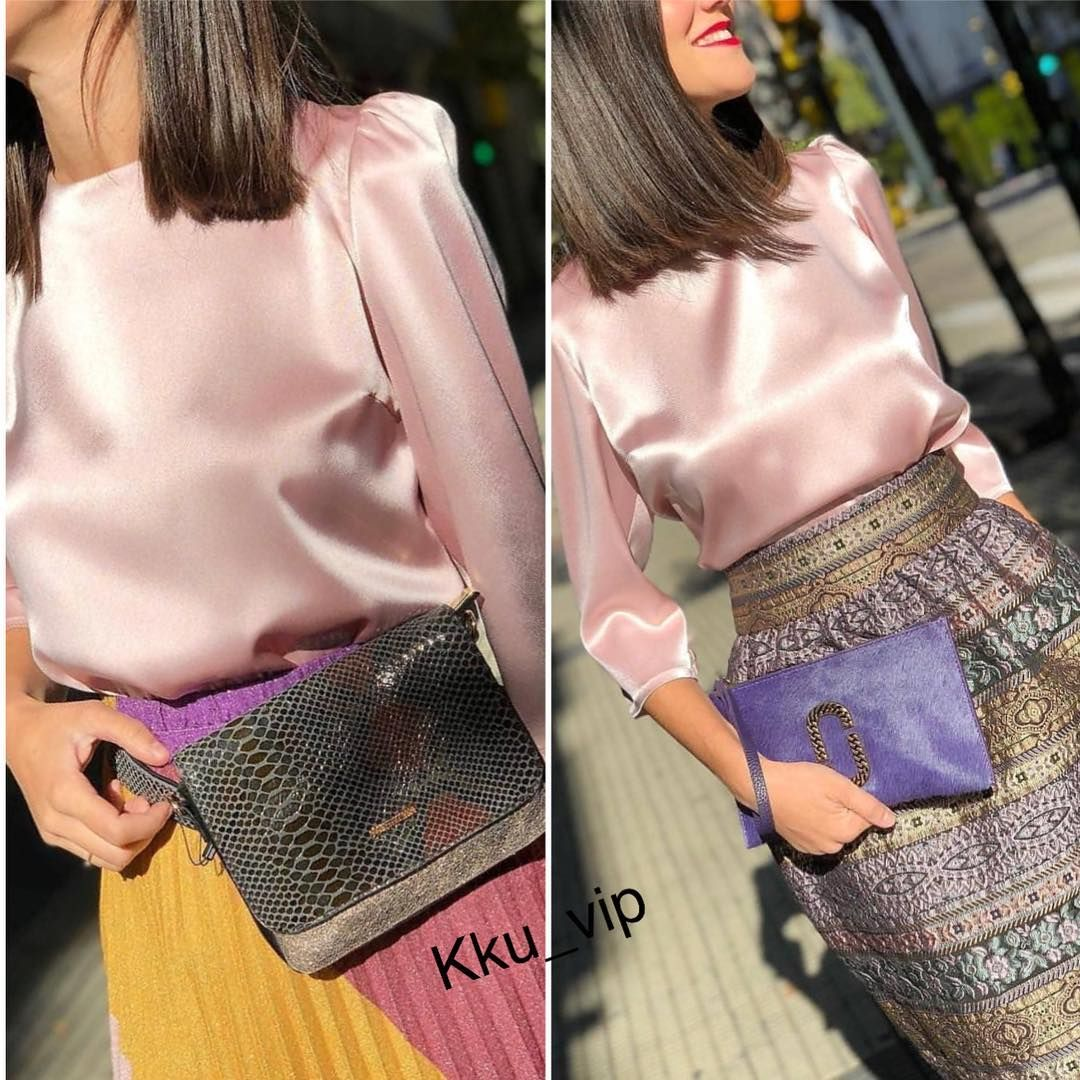 تنسيقين على نفس البلوزه يمين ولايسار الراعي الرسمي للحساب لهذا الشهر مجمع الدكتور علي عبدالهادي بن دعجم الطبي Alida Style Fashion Shoulder Bag