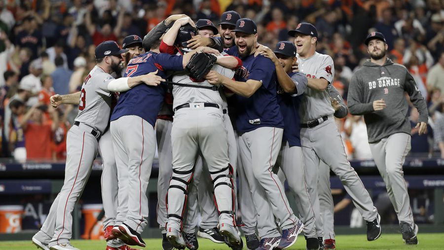 Celebrate! Red Sox beat Astros, head to World Series