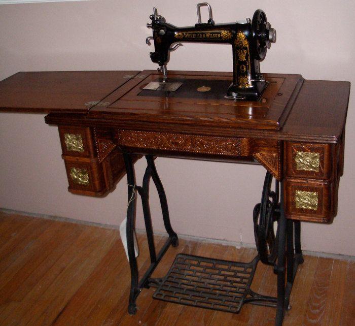wheeler & wilson antique sewing machines
