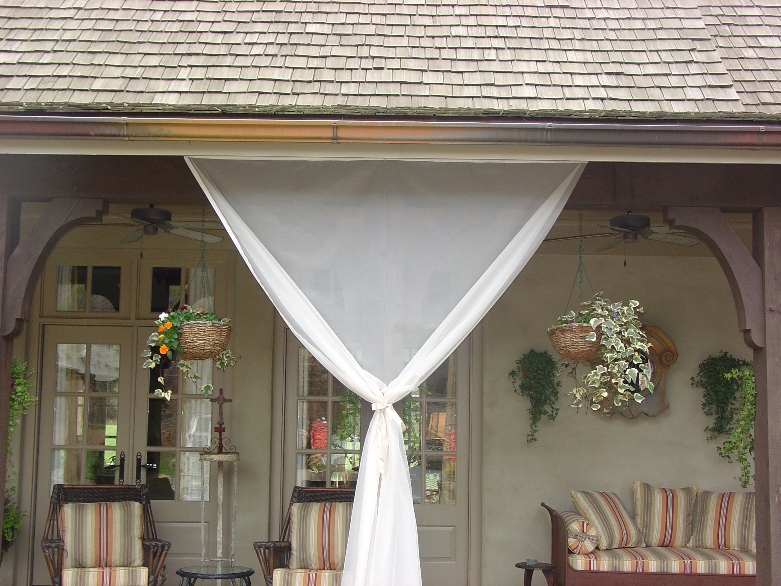 Retractable Mosquito Netting Curtains By DIY Project That Is Affordable Effective And Beautiful