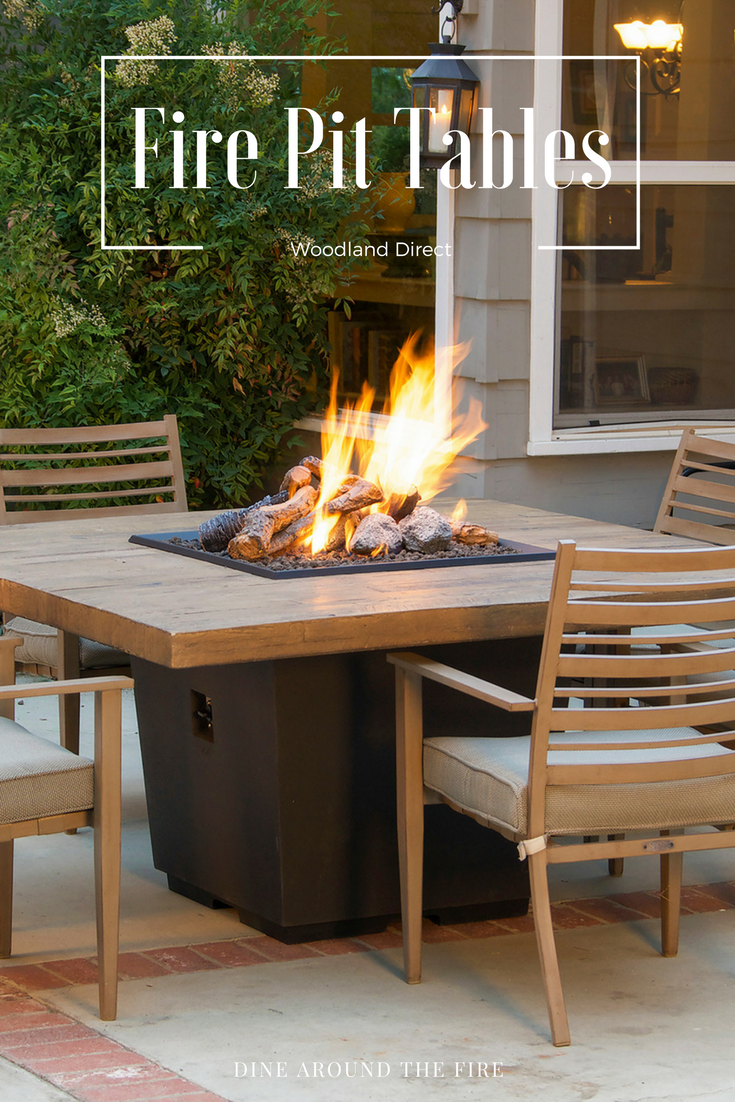Make Fire The Centerpiece Of Your Dinning Table | Fire Pit Tables |  WoodlandDirect.com