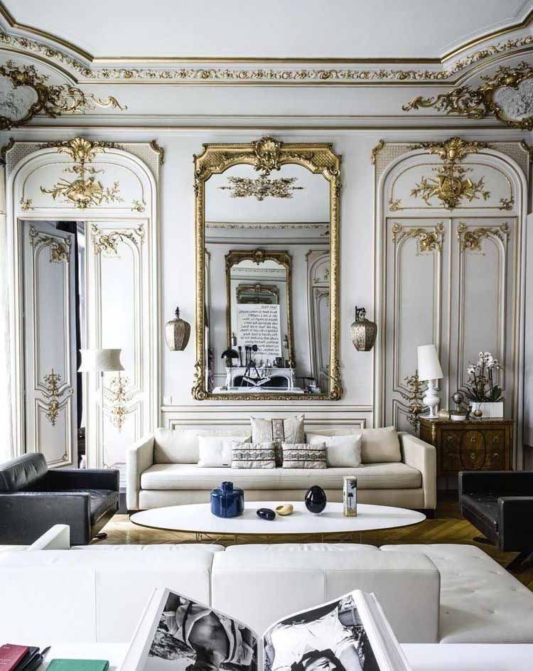 Beautiful Victorian Style White Living Room Decor With Rh Shelter Arm Sofa In 2020 Chic Apartment Decor White Living Room Decor Apartment Chic #one #sofa #living #room #ideas