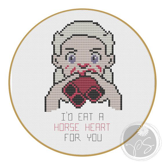 Game of Thrones Valentine - Printable PDF Pattern | Varios y Bordado