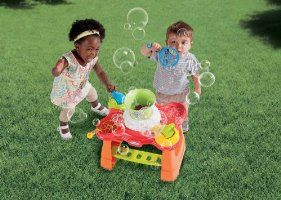 Amazon $50 bubble machine table