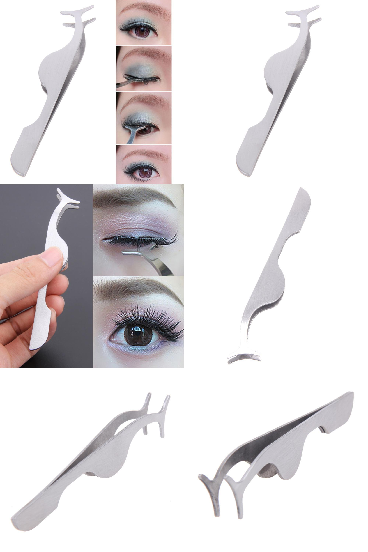 Visit To Buy False Eyelashes Clip Auxiliary Tools Eyebrow Tweezers