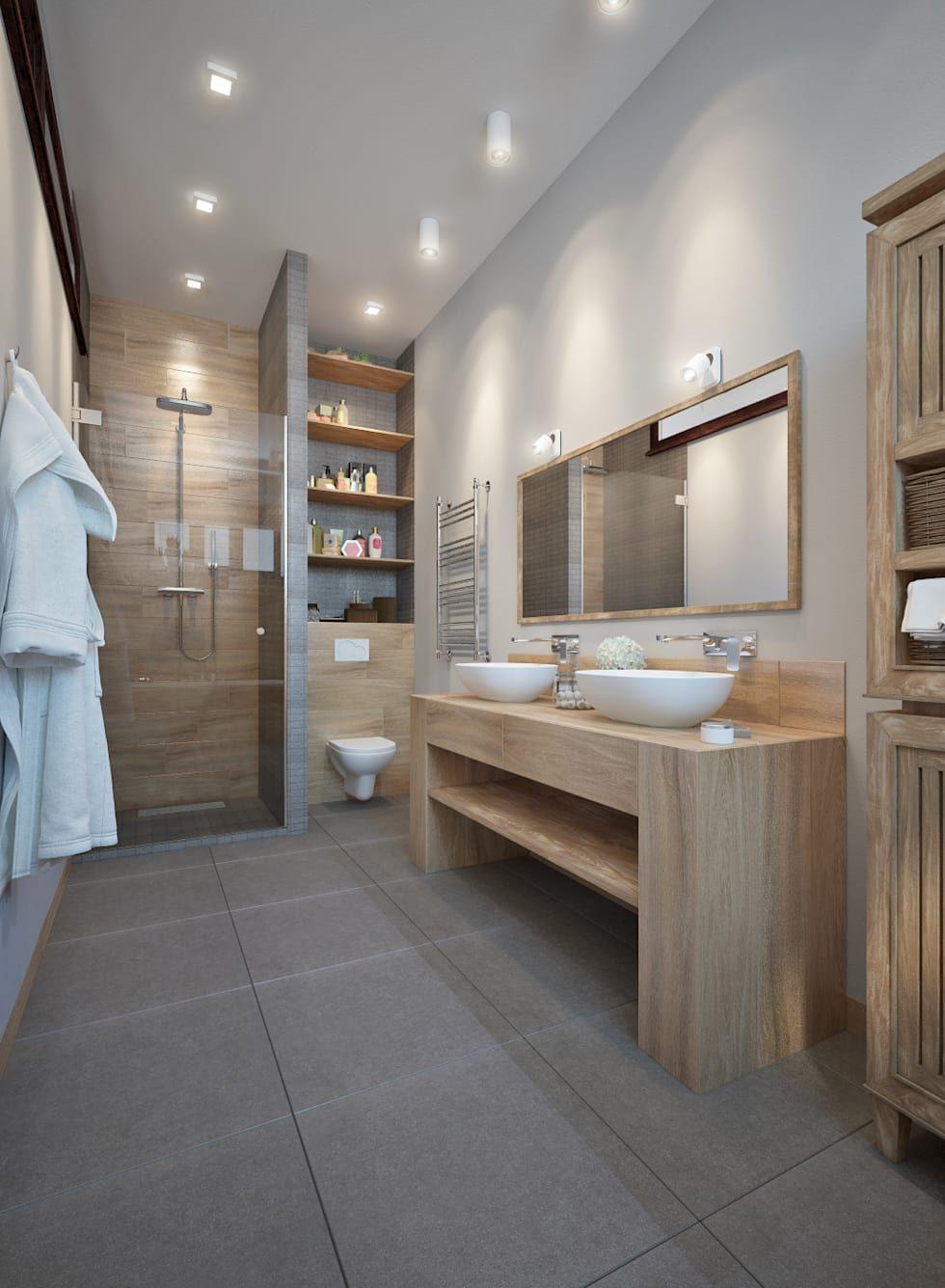 Badezimmer design rustikal holz ist eines der beliebtesten materialien wenn es darum geht