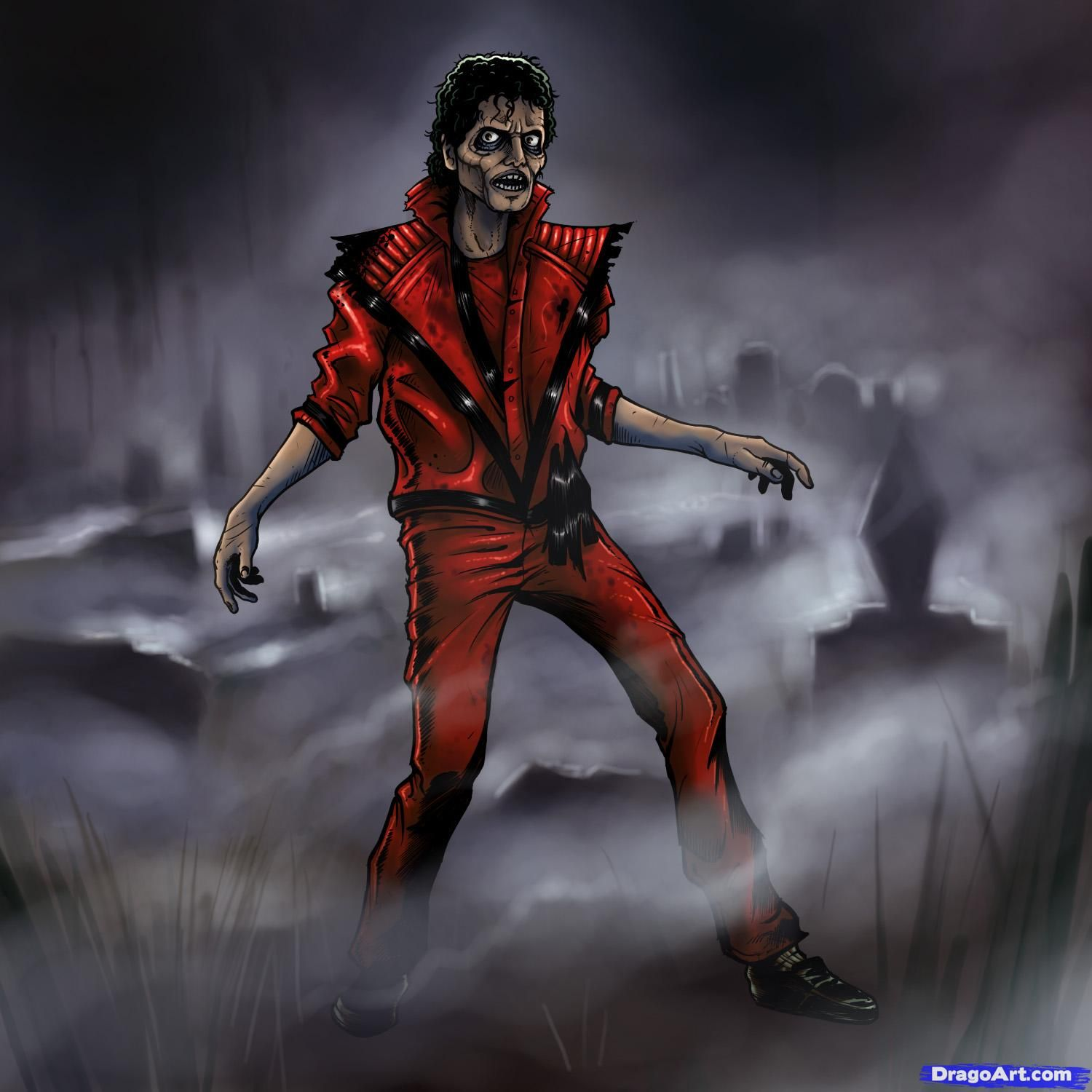 Thriller Zombies Drawings How To Draw Michael Jackson