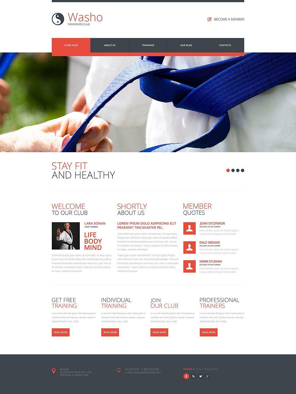 Website Martial Arts Responsive Template