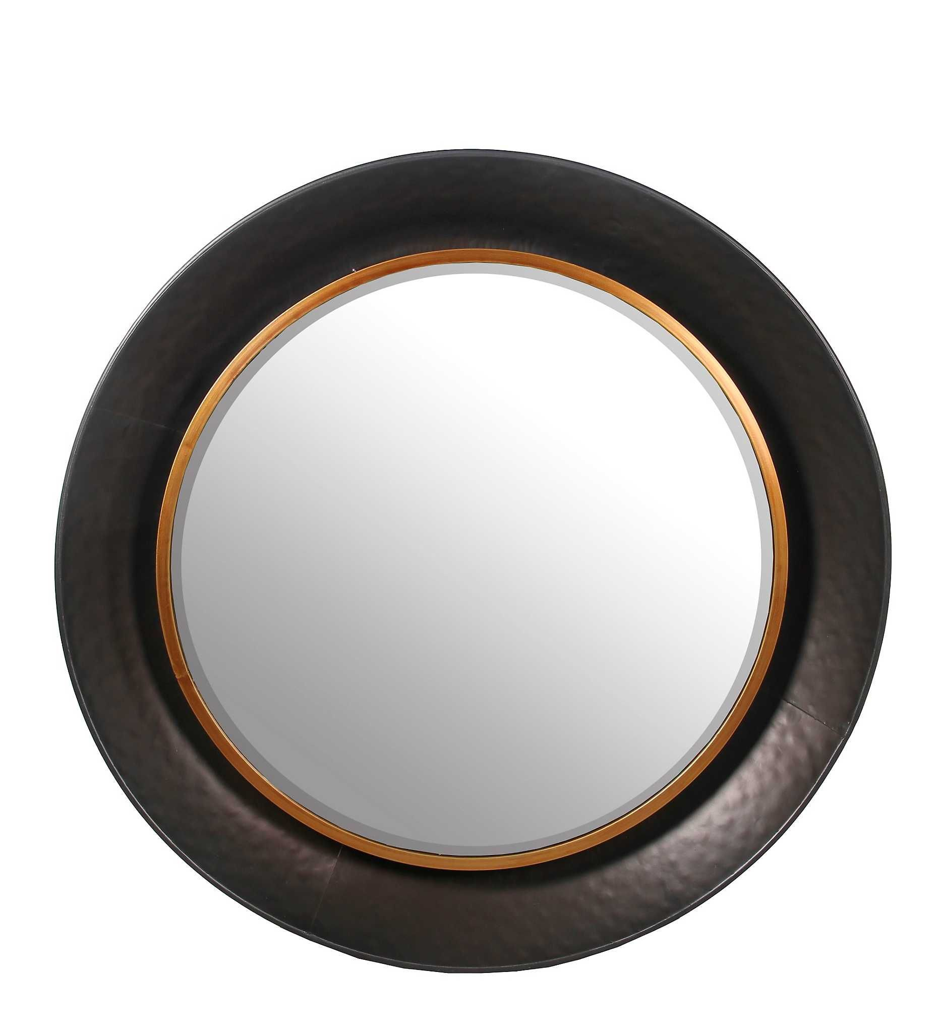 Hammered metal round wall mirror in kirklands