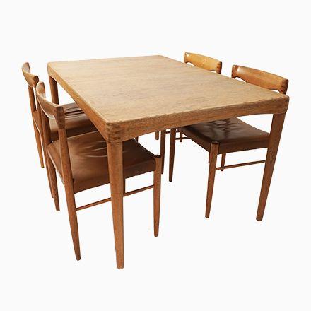 Ausziehbarer Mid-Century Tisch mit Fünf Stühlen von HW Klein für - küchentisch mit stühlen