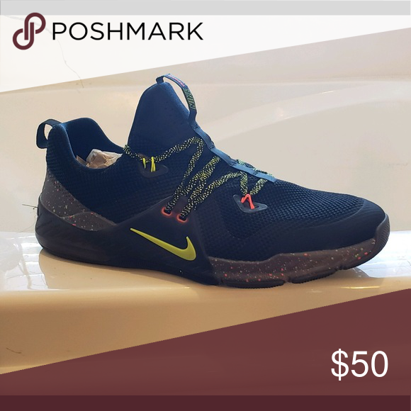 86ae5aa587c Men s Nike Zoom trainers Mostly black with lime green and reddish orange  accents Nike Shoes Athletic Shoes