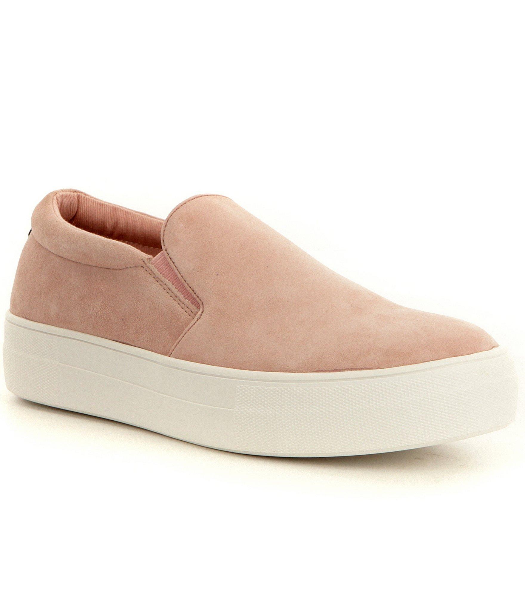 Steve madden Gills Suede Slip On Platform Sneakers in Pink for Men .