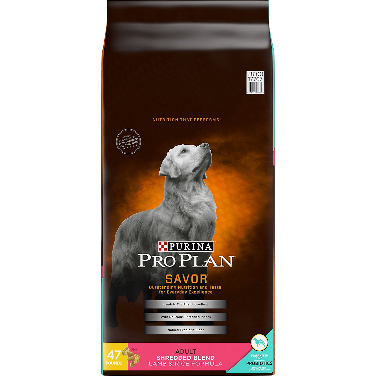 Purina Pro Plan Savor Shredded Blend Lamb And Rice Formula Adult