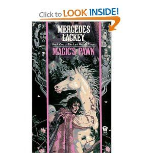 The Last Hearld-Mage: Magic's Pawn, by Mercedes Lackey. The beginning of a great trilogy, this series is known for having a homosexual main character portrayed as a moral, normal person, which was unusual back in 1989.