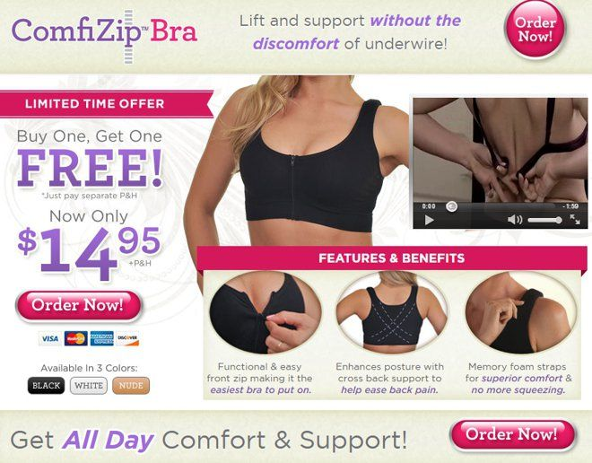 6b33cce9b187a ComfiZip Bra is a front zip bra that provides support without underwire.  Does it actually work  Read our ComfiZip Bra review.