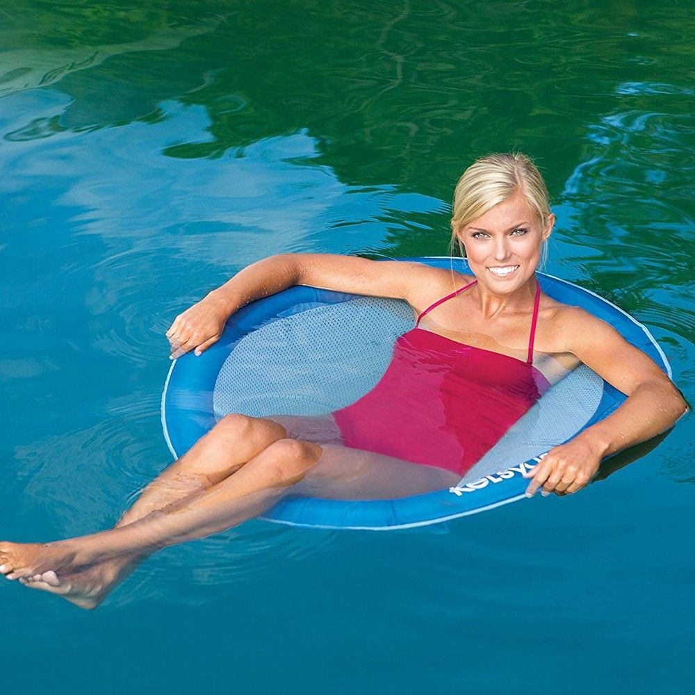 Swimways Float A Round Swimming Pool Floating Chair For Adults Up To ...