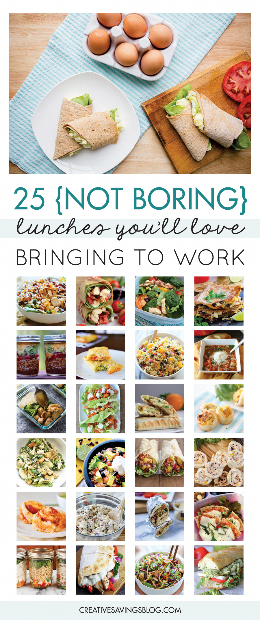 Pack your lunch. It's such a simple statement, but did you know this simple act can save you $500 or more each year?! So what's holding you back? Do you need packed lunch ideas...or more specifically work lunch ideas? These 7 creative ways to avoid the eating out trap at work, will not only save money, they'll also help jumpstart a healthy lifestyle. Let's face it—healthy work lunches make you feel 100 times better than greasy fast food ever could! via @cr #healthylifestyle