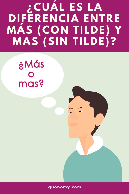 Cuál Es La Diferencia Entre Más Con Tilde Y Mas Sin Tilde Palabras Educacion Adverbios