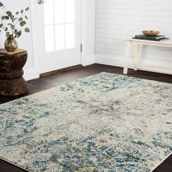 Strouth Teal Gray Area Rug Home In 2019 Rugs