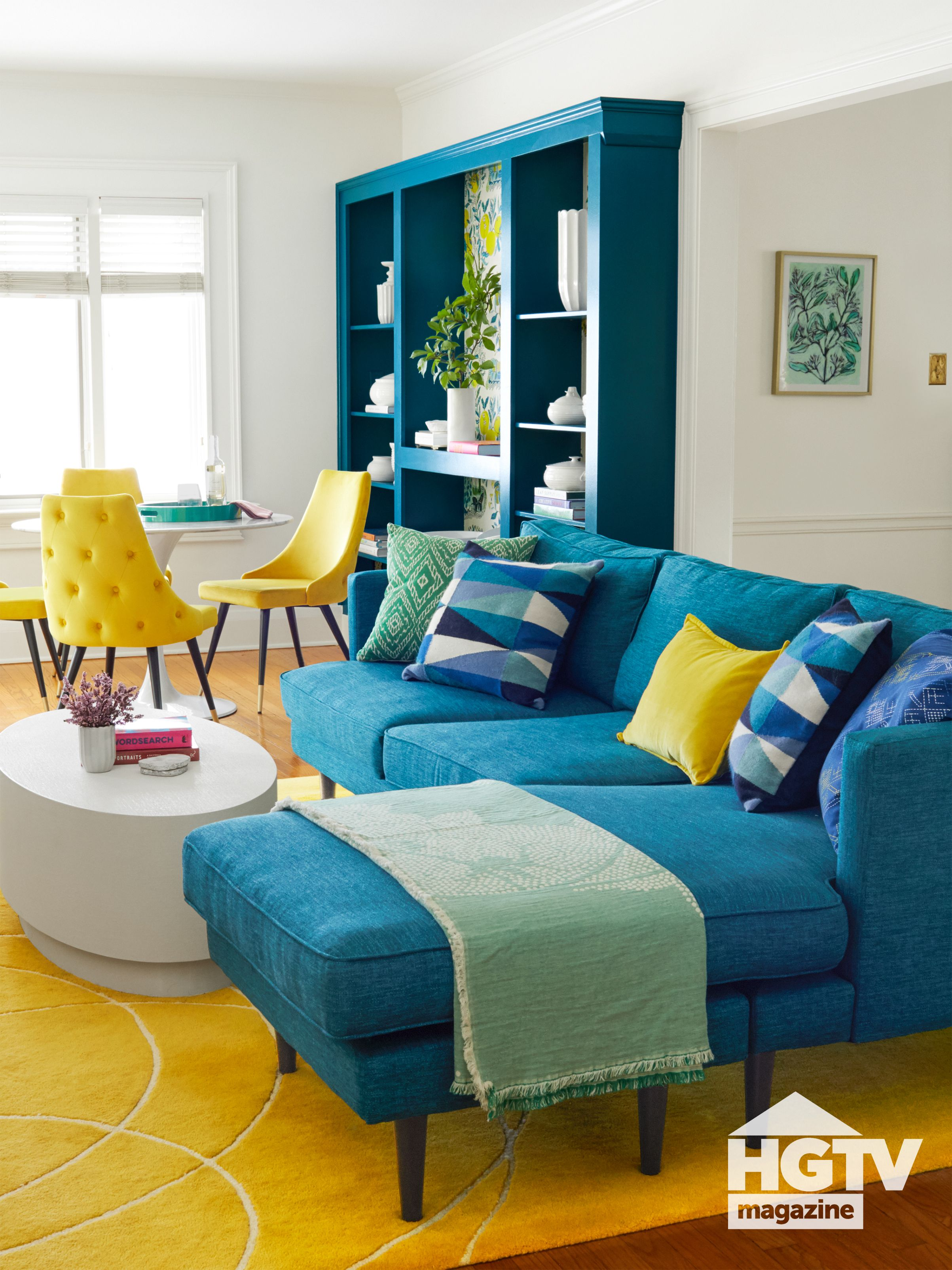 Photo of A contemporary living room from HGTV Magazine