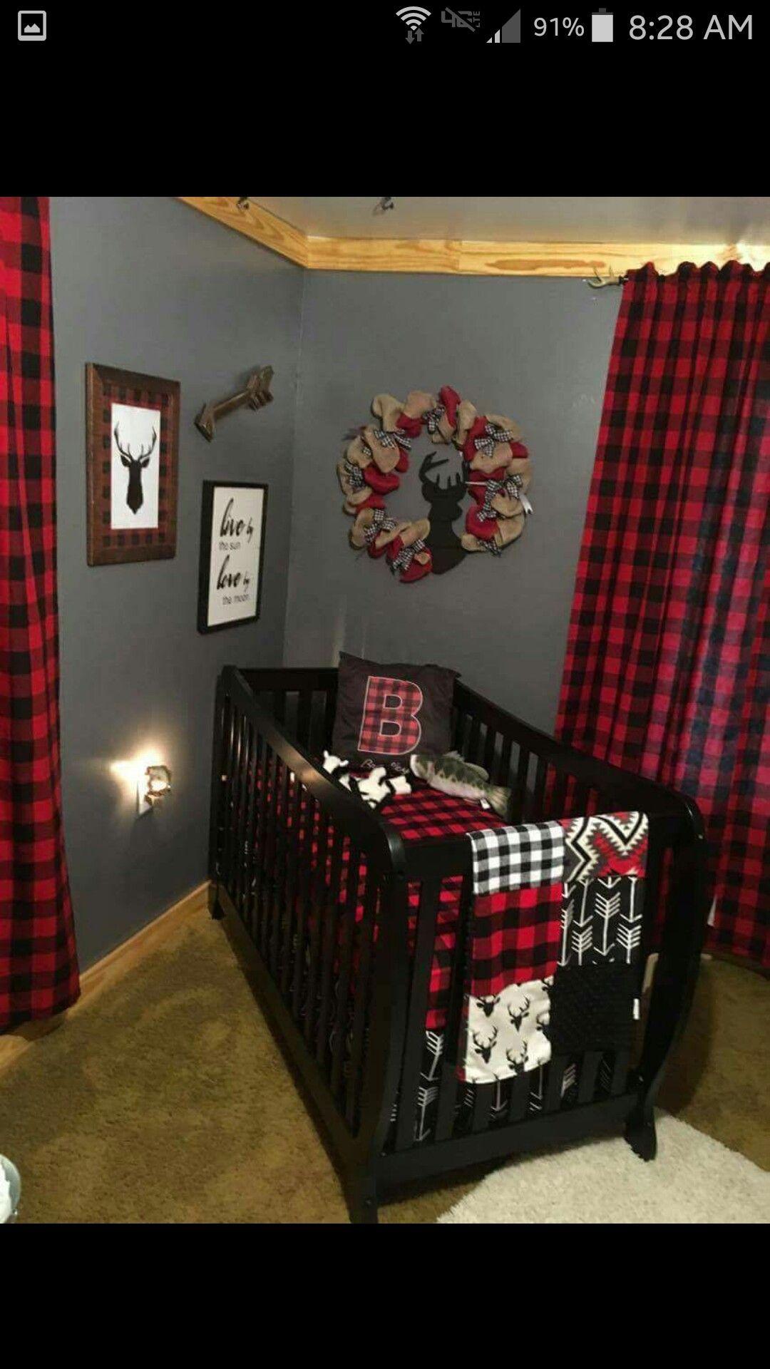 Buffalo Plaid Baby Room Nursery Baby Room Boys Crib Baby Boy Rooms