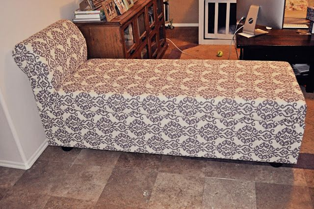 DIY storage chaise lounge For the Home Pinterest