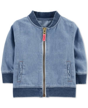 06b30072b Carter s Baby Boys Cotton Denim Bomber Jacket - Blue 12 months ...