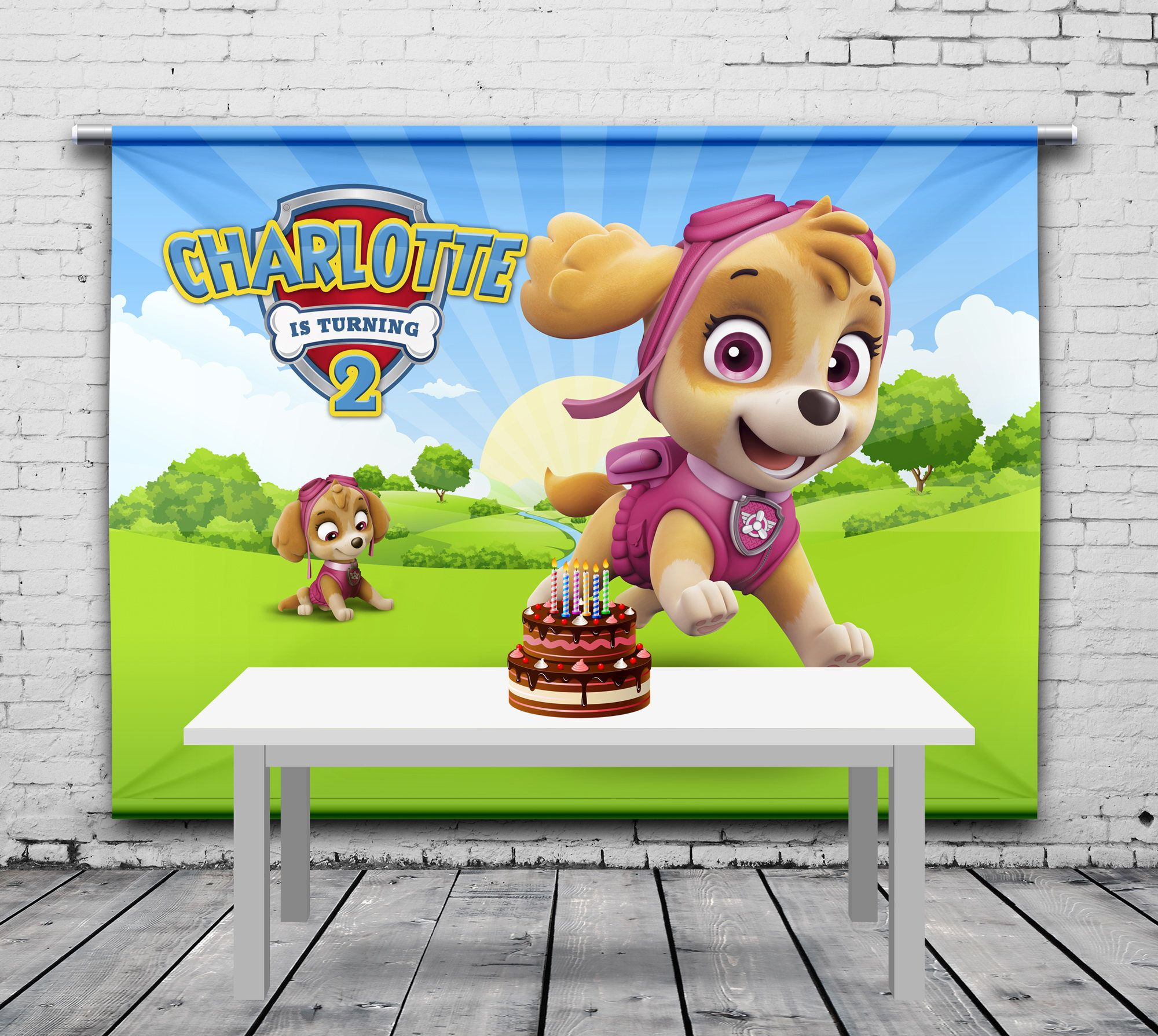 Personalized//Customized The Smurfs Name Poster Wall Art Decoration Banner