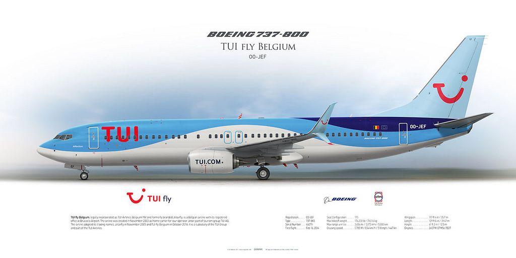 Boeing 737 800 Tui Fly Belgium Oo Jef Luftfahrt