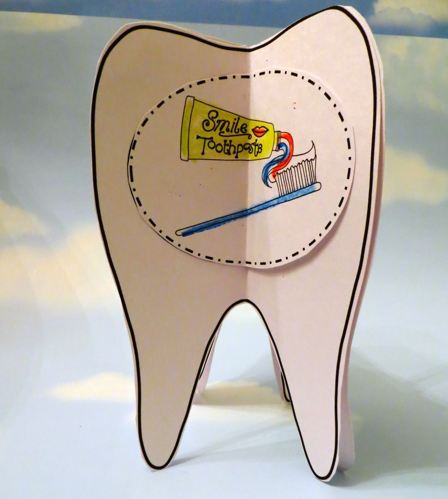 Dental Health Craft 3d Tooth Brushing Sequencing