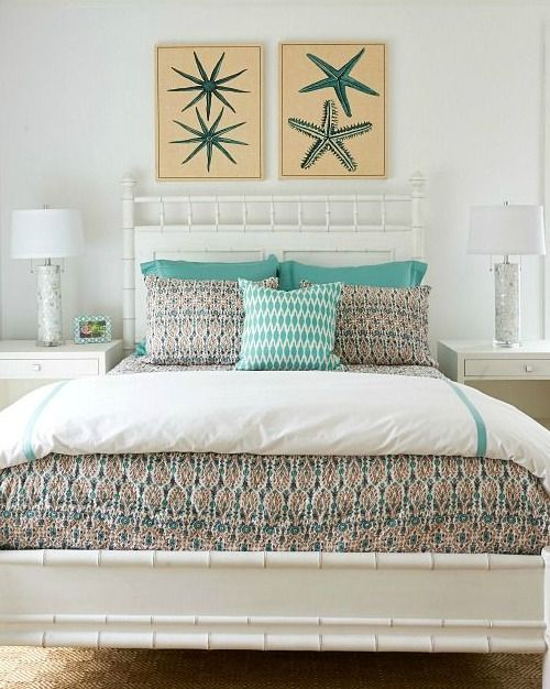 Above The Bed Wall Decor Ideas With A Coastal Beach Theme Home