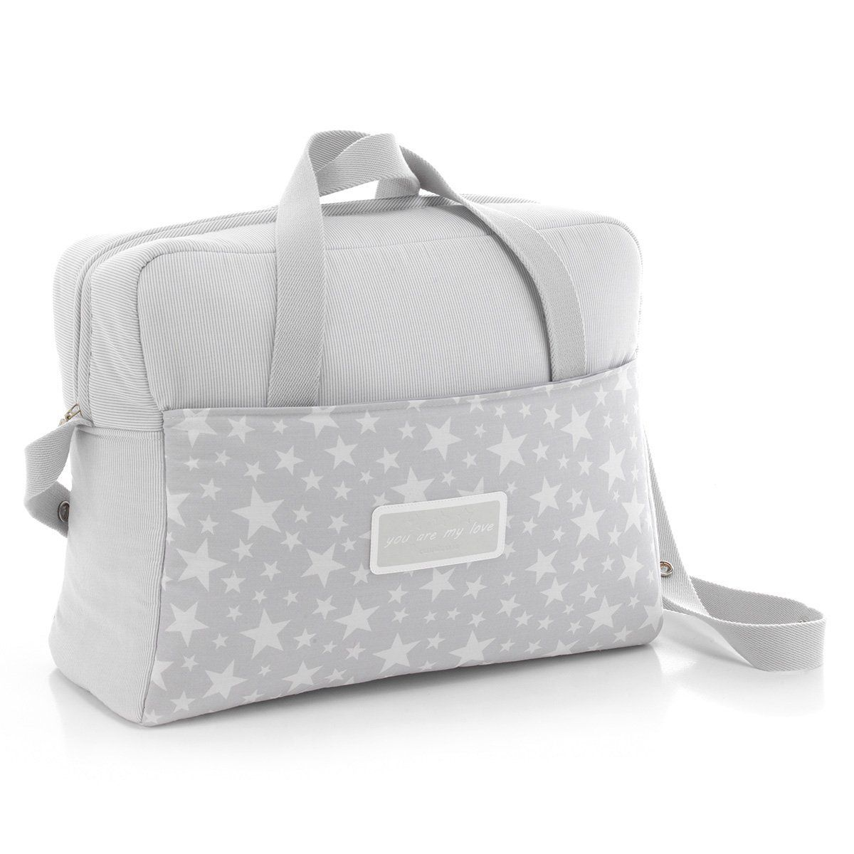 295b51611 Cambrass Star - Bolso maternal tipo maleta, color gris: Amazon.es: Bebé
