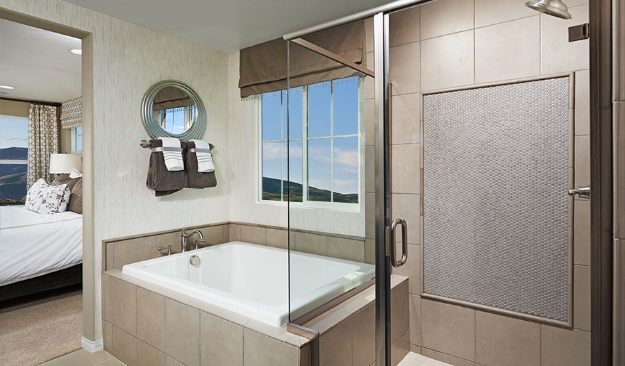 This Elegant Master Bath In Palmdale CA Boasts A Spacious Soaking - Bathroom remodeling palmdale ca